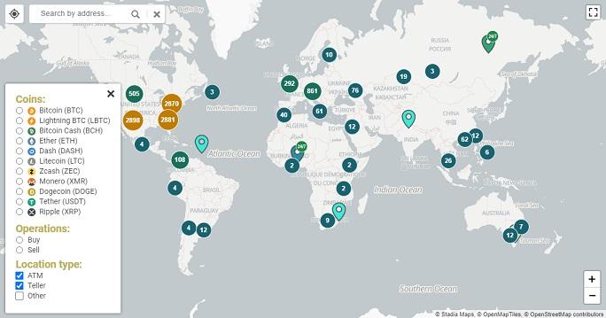 bitcoin atm harita