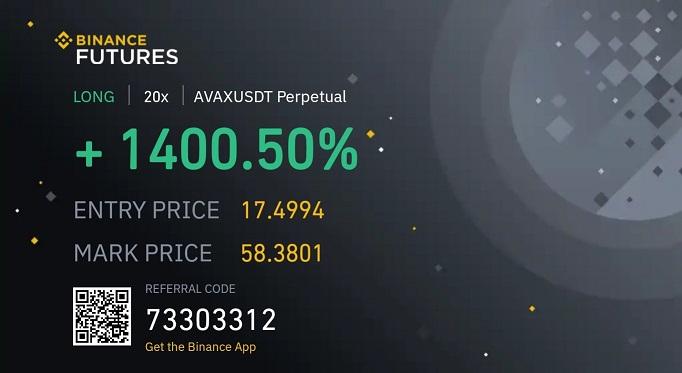Binance Futures Kaldıraç Örneği (AVAX)