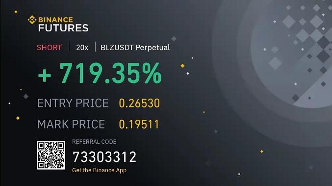 Binance Futures Kaldıraç Örneği (BLZ)