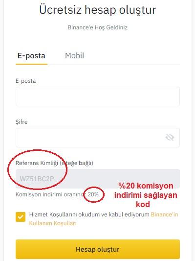 binance turkiye uyelik sayfasi