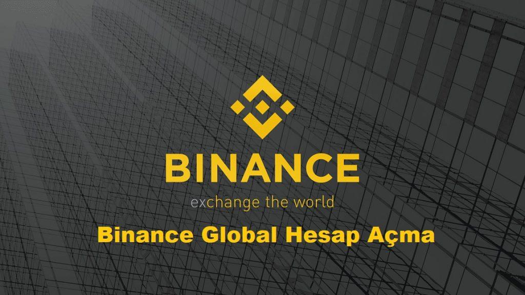 Binance Global Hesap Açma